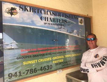 Skirtchaser Fishing Charters sign