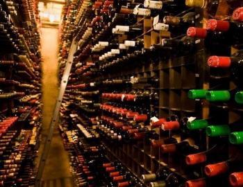Berns Steakhouse wine cellar