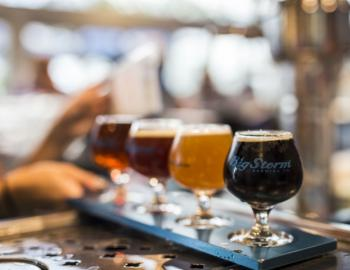 Big Storm Brewing Co. beers on tap