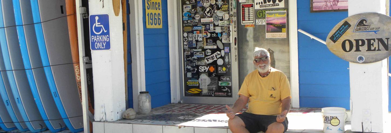 Suncoast Surf Shop's owner, Joe